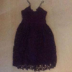 Dark purple floral patterned dress